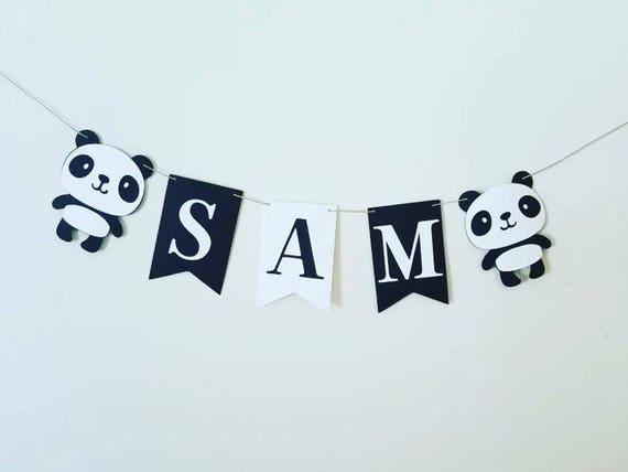 Panda 26th Anniversaire Bannière X 2-Décorations de Fête-Personnalisé Tout Nom