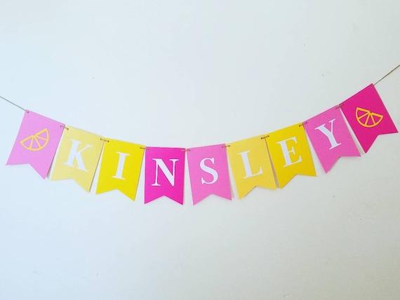 Pink Lemonade Name Banner Pink Lemonade 1st Birthday Banner Lemonade