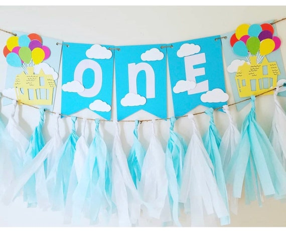 Pixar S Up Banner Up Birthday Banner Disney Birthday Banner Up House Birthday Banner Disneyland Banner Disney World Banner By Once Upon A Party Catch My Party