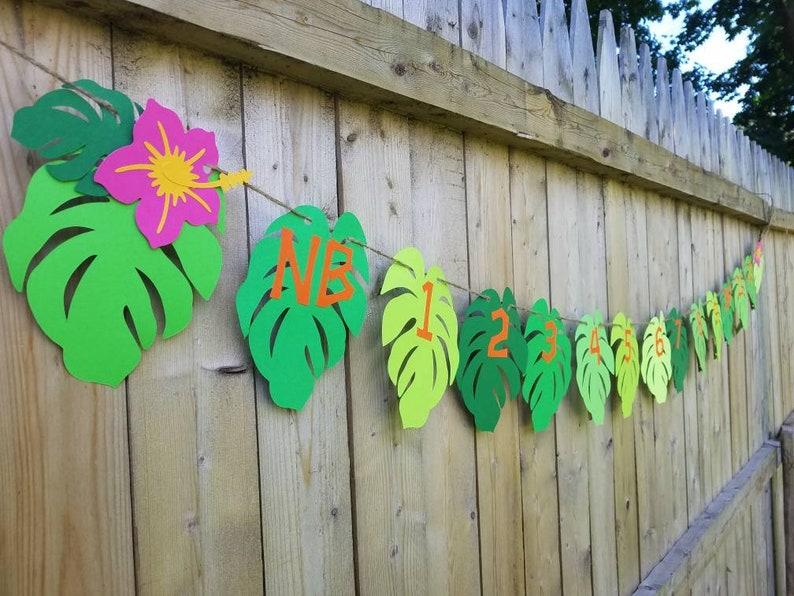 Moana photo banner,luau photo banner,Moana birthday banner,luau birthday banner,tropical birthday banner,tropical photo banner,leaf garland