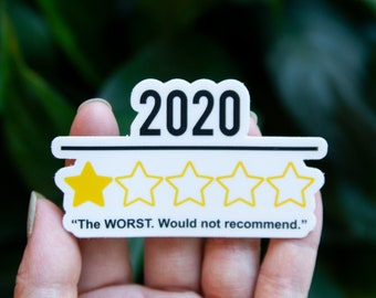 2020 One Star - Would Not Recommend Sticker - Vinyl Stickers