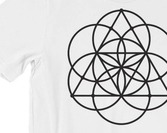 Seed of Life Shirt - sacred geometry, flower of life, power of 7