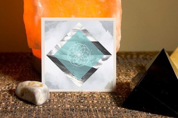 Tube Torus Sacred Geometry Sticker