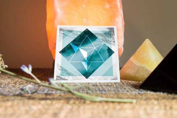 Merkaba Sacred Geometry Sticker