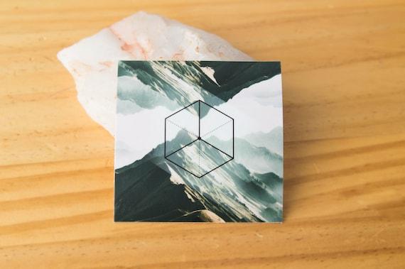 Earth - Platonic Solid Geometry Sticker