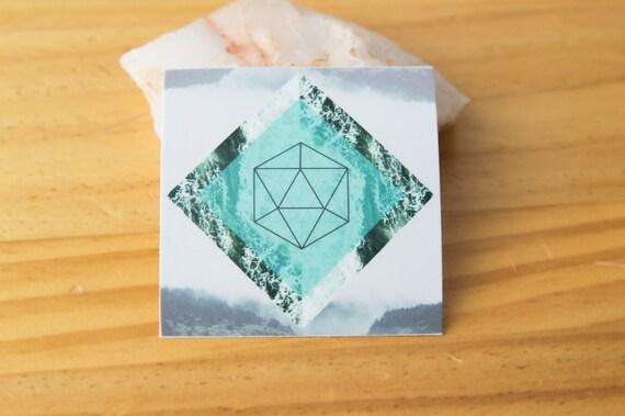 Water Platonic Solid Geometry Sticker