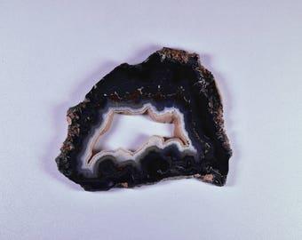 Crown of Silver Psilomelane Polished Slab