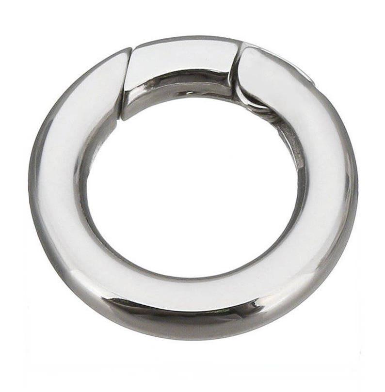 V11 Edelstahl Karabiner Verschluss Leder Armband Halskette Schmuck Collier Clasp