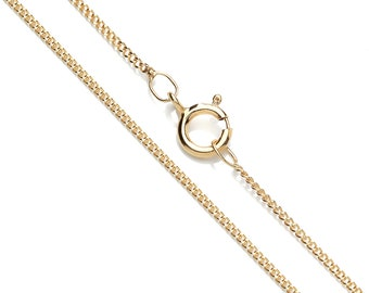 """9ct Yellow Gold Curb Pendant Chain / Necklace - 16"""" 18"""" 20"""""""