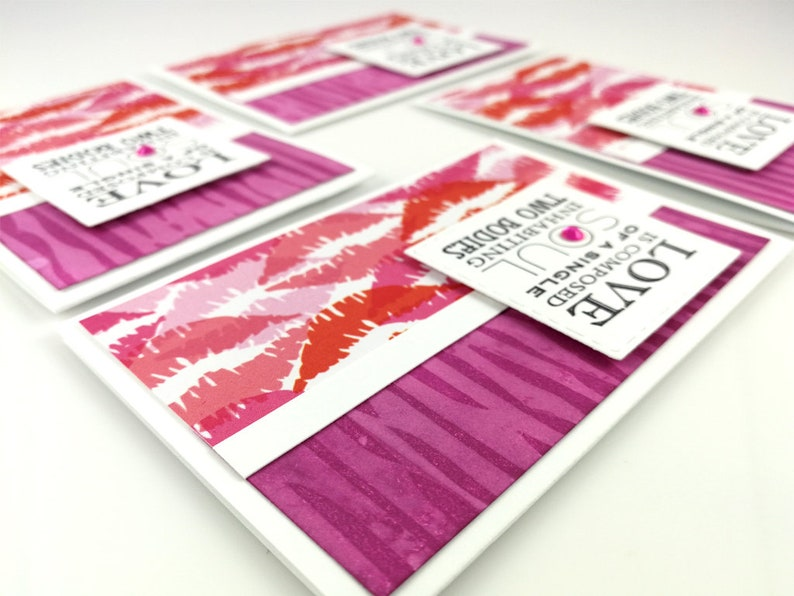 Engagement Party Invites Romantic Card Pink Cards Valentines Card Lip Card Blank Note Card Set Blank Card Engagement Card