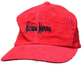 f3c63409213 vintage 80s neiman marcus corduroy strapback hat