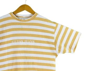 cc1b500b7d15 vintage 90s guess jeans striped tee shirt size medium