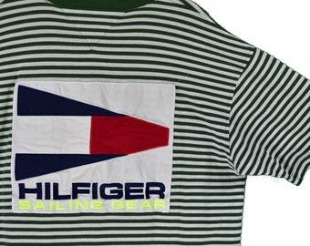 e39c9ea29 vintage 90s tommy hilfiger sailing gear tee shirt size xl rare