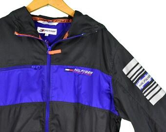 8f36e16b6cbaa vintage 90s tommy hilfiger atrhletics windbreaker jacket size small