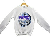 vintage 90s pepsi promo sweatshirt size small