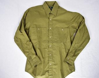 d410d1a692 vintage 80s abercrombie and fitch button front cotton shirt size medium