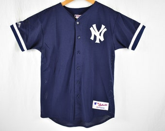 vintage 90s new york yankees majestic baseball jersey size xl 578056ec849