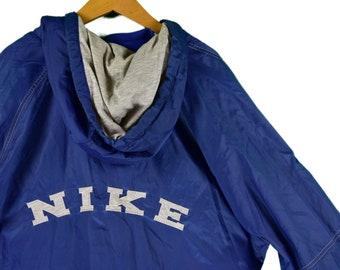 a4ab7dd728 vintage 90s nike windbreaker hoodie size large