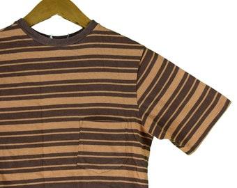 1ad3d4d1044a8b vintage 70s striped pocket tee shirt size medium