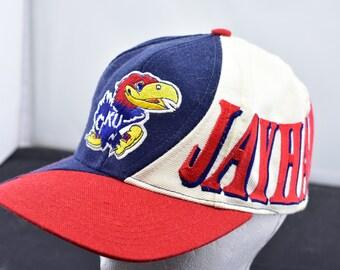 5290c60b587 vintage kansas University jayhawks KU hat snapback