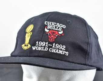 8307392f145 vintage 1991 92 chicago bulls world champions hat snapback