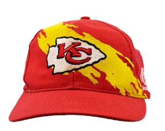0bbbddf7dbb596 vintage 90s kansas city chiefs splash snapback hat logo athletic