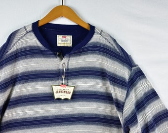 2d69a032f4 vintage 90s levis striped long sleeve henley size xl
