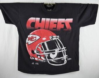 c04596ece vintage 90s kansas city chiefs tee shirt size xl