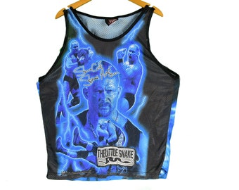 ce77ac3eaf003 vintage 90s wwf stone cold tank top size large