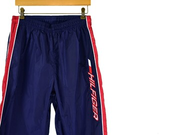 be5f9e32ec93a vintage tommy hilfiger spellout track pants size medium