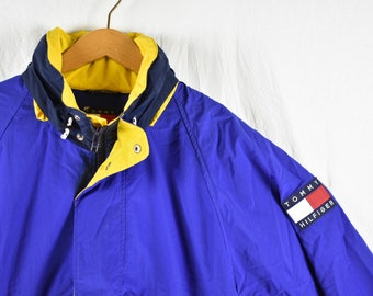 1f45b6c506704 vintage 90s tommy hilfiger windbreaker jacket size large