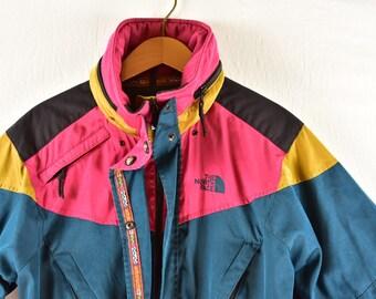 43a63f4e36 vintage 90s color block the north face jacket size medium rare
