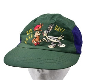 640641448939 vintage 90s bugs bunny looney tunes 5 panel cap elastic back