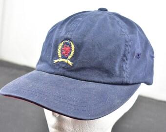 b361accb5 vintage 90s tommy hilfiger crest logo snapback hat
