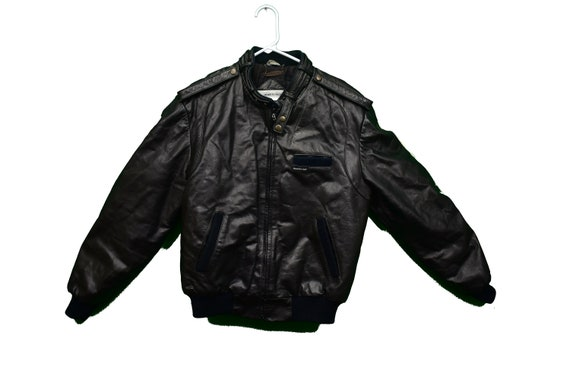 80s members only leather jacket size small