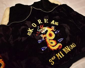 vintage korea 80s military police souvenir jacket size medium/large