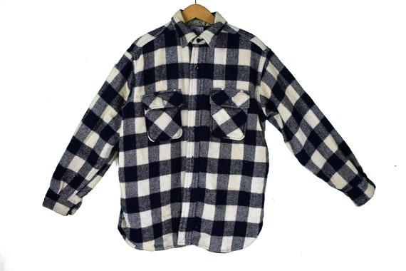 vintage sears roebuck pilgrim flannel distressed workwear size large