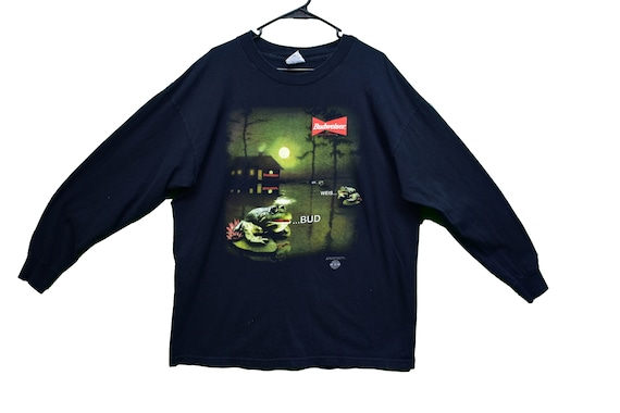 90s stanley desantis budweiser frog tee shirt size