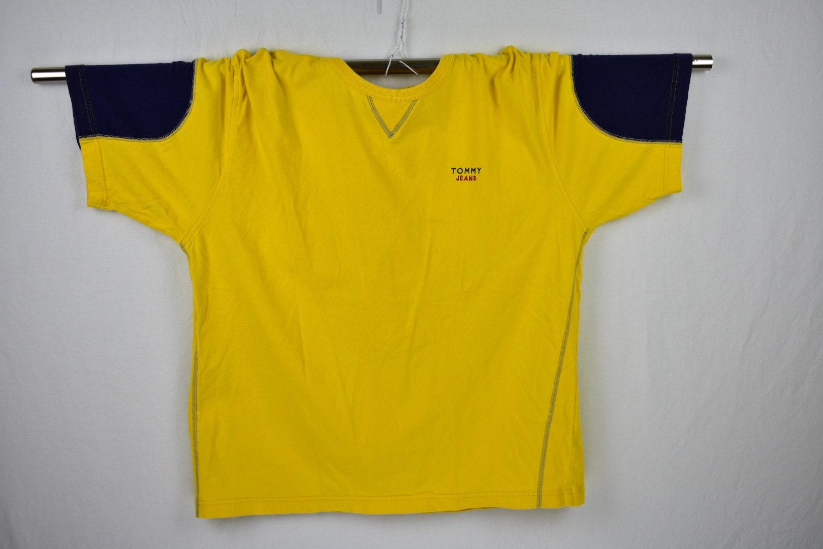 1528e896 Vintage Tommy Hilfiger Jeans Sleeve Color Block Tee Shirt Size | Etsy