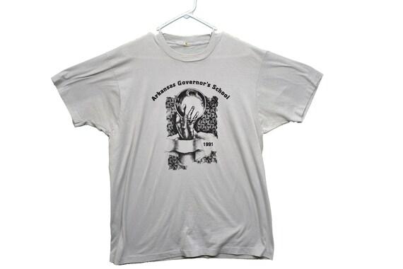 90s arkansas governors school mc escher tee shirt