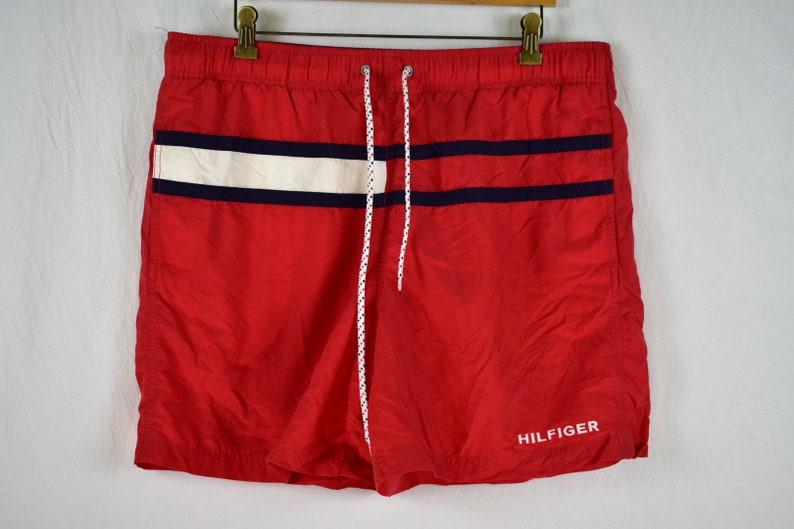 868ed1d2a7 Vintage Tommy Hilfiger Swim Trunks Big Flag Size XL | Etsy