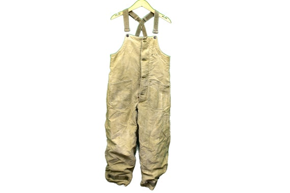 vintage ww2 40s USN navy deck overalls size small