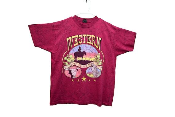 90s cowboy western tee shirt size xl