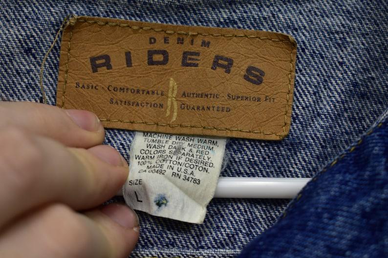 90s riders denim jacket size large