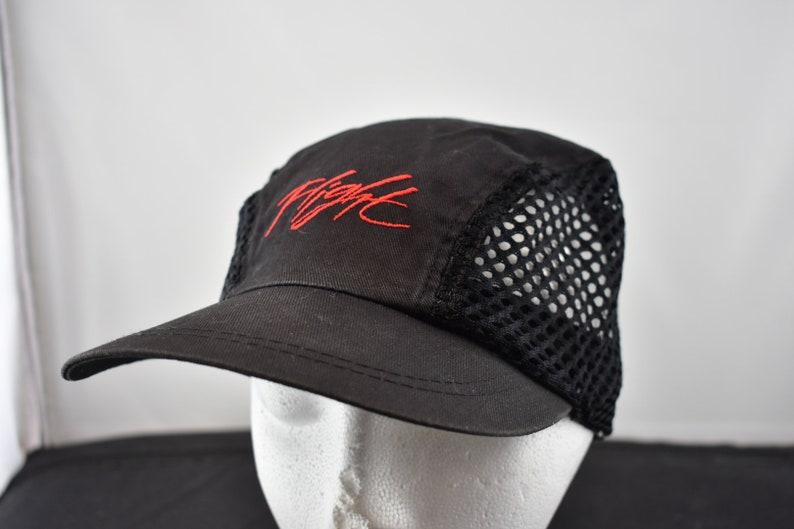 e99354e7645 Vintage 90s air jordan nike 5 panel cap hat mesh side