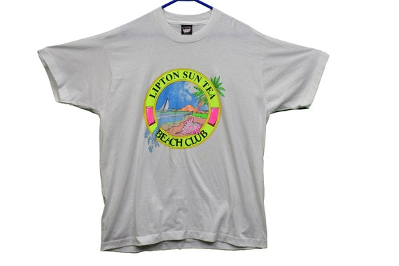 90s lipton beach club tee shirt size xl