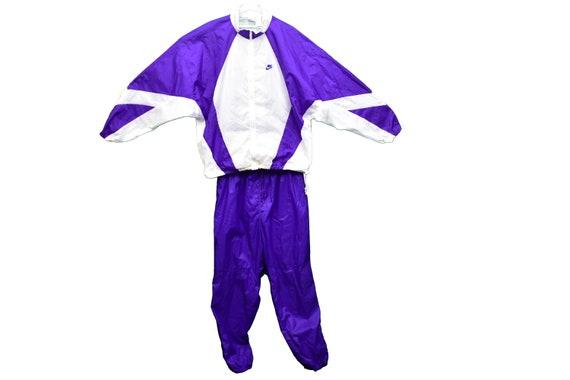 90s nike windbreaker suit jacket and pants size xx
