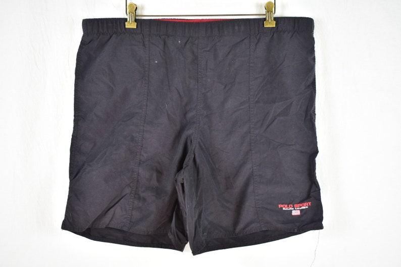 14098162a4 Vintage Polo Sport Ralph Lauren Swim Trunks Black Red Size | Etsy