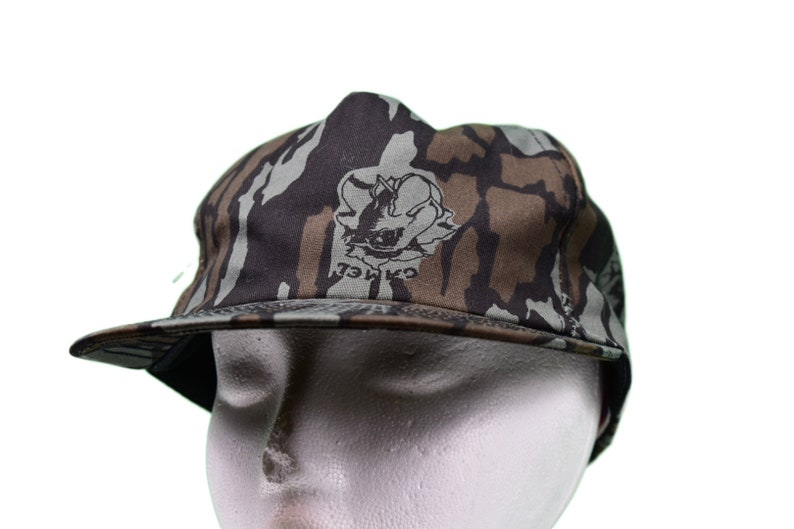 cefc3855be4 Vintage 80s camel cigarettes camo snap back hat