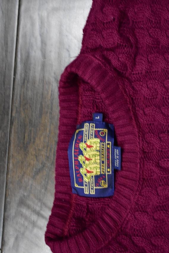 80s chaps ralph lauren sweater size large - image 3